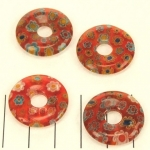 millefiori donut - rood