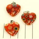 millefiori hart - rood
