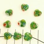 millefiori hart - groen