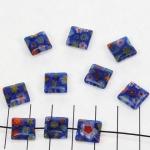 millefiori vierkant - donkerblauw