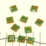 millefiori vierkant - groen