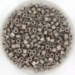 miyuki hex cut rocailles 8/0 - nickel plated