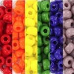 miyuki seed beads 6/0 - rainbow