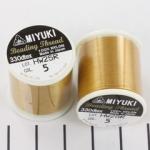 miyuki beading draad B - goud