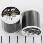 miyuki beading draad B - zwart