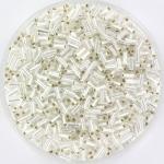 miyuki bugles 3 mm - silverlined crystal