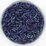 miyuki bugles 3 mm - opaque luster eggplant