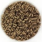 miyuki bugles 3 mm - metallic matte iris dark bronze