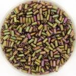 miyuki bugles 3 mm - metallic matte khaki iris