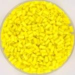miyuki bugles 3 mm - opaque yellow