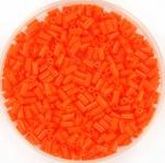 miyuki bugles 3 mm - opaque orange