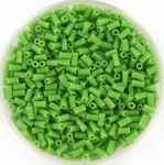 miyuki bugles 3 mm - opaque green