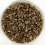 miyuki bugles 3 mm - metallic dark bronze