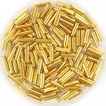 miyuki bugles 6 mm - 24kt gold plated