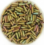 miyuki bugles 6 mm - metallic matte khaki iris