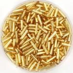 miyuki bugles 6 mm - silverlined gold