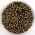miyuki cubes 1.8mm - metallic matte dark bronze