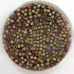 miyuki cubes 1.8mm - metallic matte iris khaki