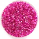 miyuki cubes 1.8mm - fuchsia lined crystal