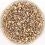 miyuki cubes 1.8mm - sparkle metallic gold lined crystal
