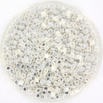 miyuki cubes 1.8mm - bright sterling plated