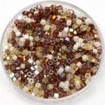 miyuki cubes 1.8mm - mix golden grains