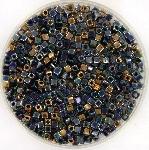 miyuki cubes 1.8mm - 1.8mm cube mix - metallic rain