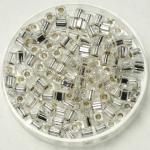 miyuki cubes 3x3 mm - silverlined crystal