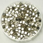 miyuki cubes 3x3 mm - galvanized silver