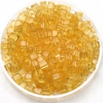 miyuki cubes 3mm - transparant light topaz