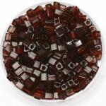 miyuki cubes 3mm - transparant dark topaz
