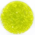 miyuki cubes 3x3 mm - transparant chartreuse