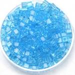 miyuki cubes 3x3 mm - transparant aqua