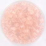 miyuki cubes 3mm - transparant light tea rose
