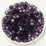 miyuki cubes 3mm - transparant amethyst