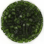 miyuki cubes 3mm - transparant olive