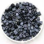 miyuki cubes 3mm - opaque matte gun metal