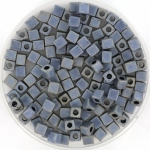 miyuki cubes 3mm - matte metallic silver grey