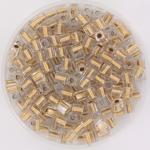miyuki cubes 3x3 mm - sparkling metal gold lined crystal