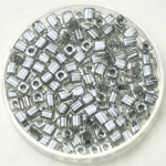 miyuki cubes 3x3 mm - sparkled pewter lined crystal