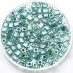 miyuki cubes 3mm - sparkled aqua green lined crystal