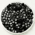 miyuki cubes 3x3 mm - opaque black