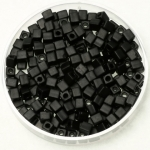 miyuki cubes 3mm - opaque matte black