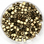 miyuki cubes 3mm - metallic dark bronze