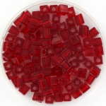 miyuki cubes 4mm - transparant ruby