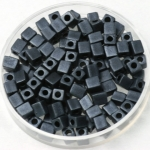 miyuki cubes 4mm - opaque matte gunmetal