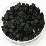 miyuki cubes 4mm - opaque matte black