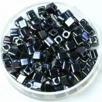 miyuki cubes 4mm - metallic iris gunmetal