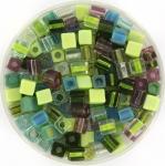 miyuki cubes 4mm - mossy glen