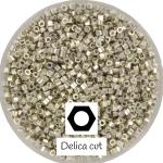 miyuki cut delica's 11/0 - galvanized silver
